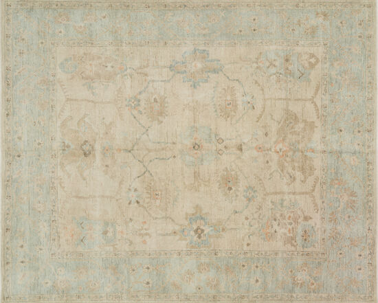Loloi Hand Knotted 5'6''x8'6'' Rug in Stone/Mist