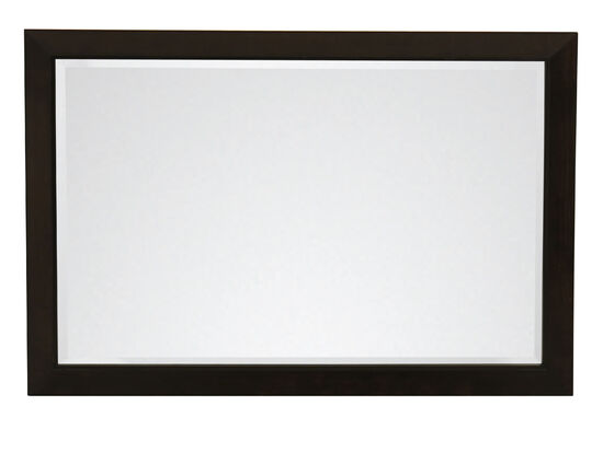 Casual Rectangular Mirror in Black