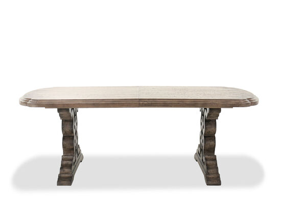 """Traditional 86"""" to 122"""" Extendable Leaf Dining Table in Dark Brown"""