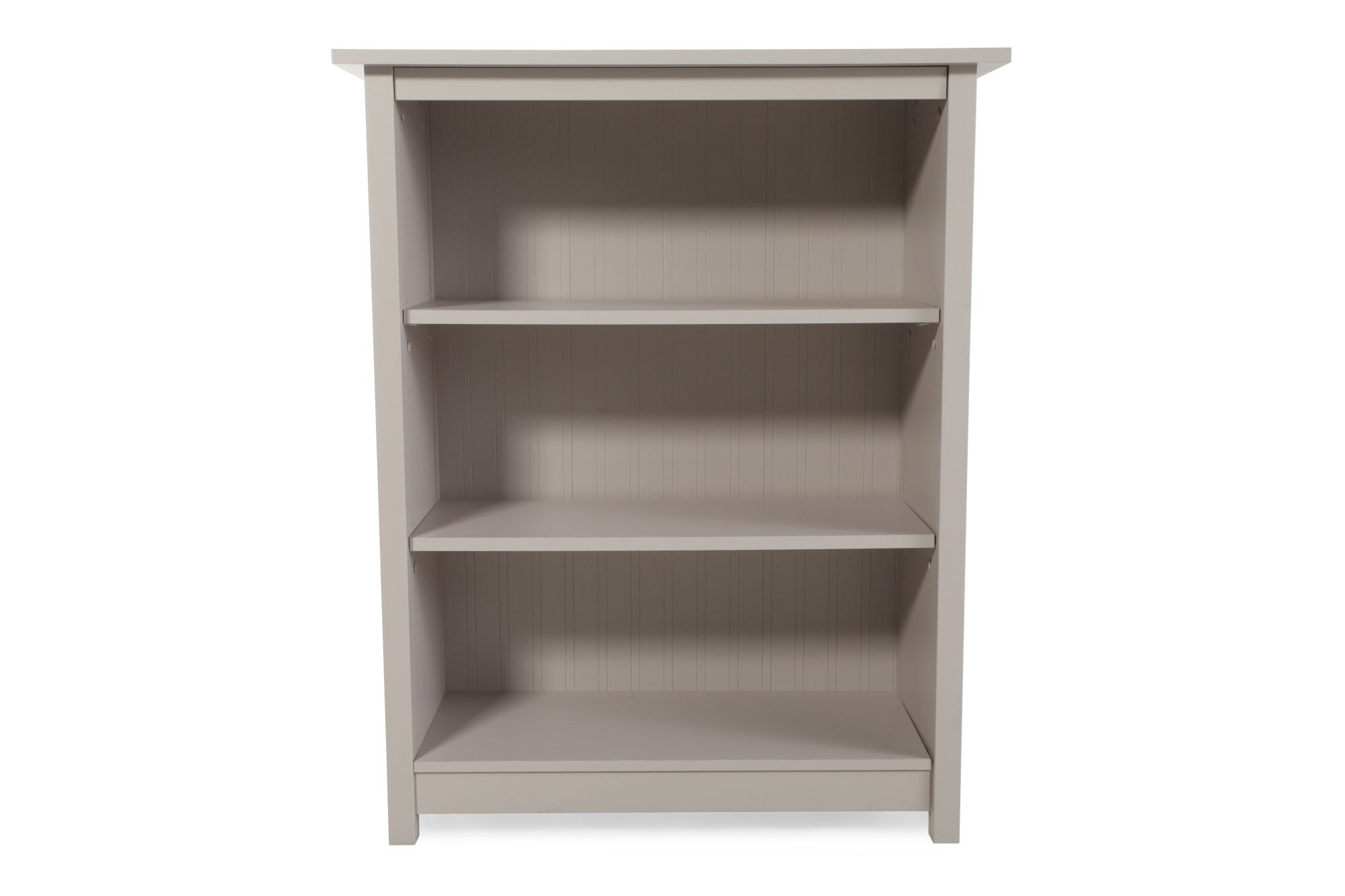 Casual Adjustable Shelf Open Bookcase In Light White