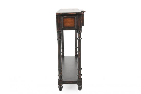 Three-Drawer Traditional Accent Console in Antique Black