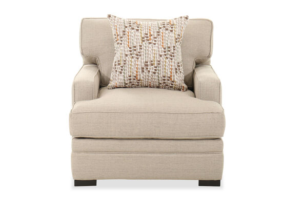 """Contemporary 36"""" Arm Chair in Beige"""