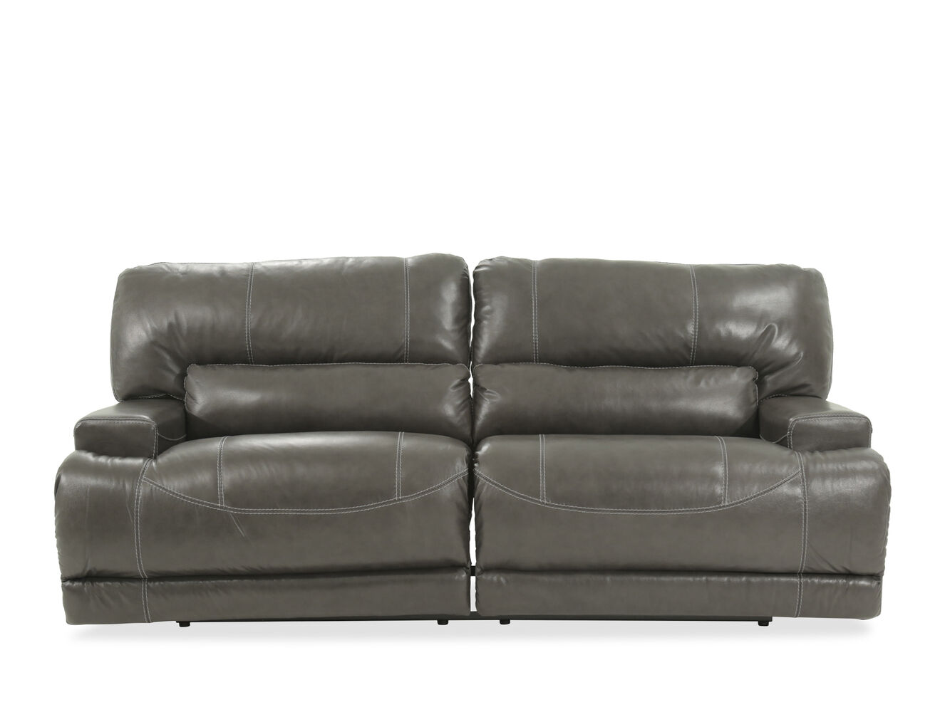 contemporary 79 power reclining sofa in gray mathis brothers furniture. Black Bedroom Furniture Sets. Home Design Ideas