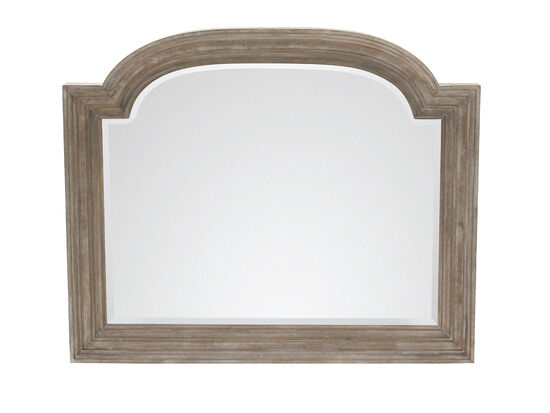 "38.5"" Traditional Arched Mirror in Oak"