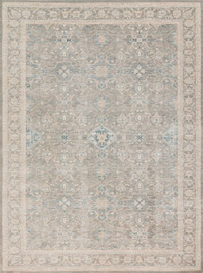 "Traditional 2'-7""x4' Rug in Steel/Steel"