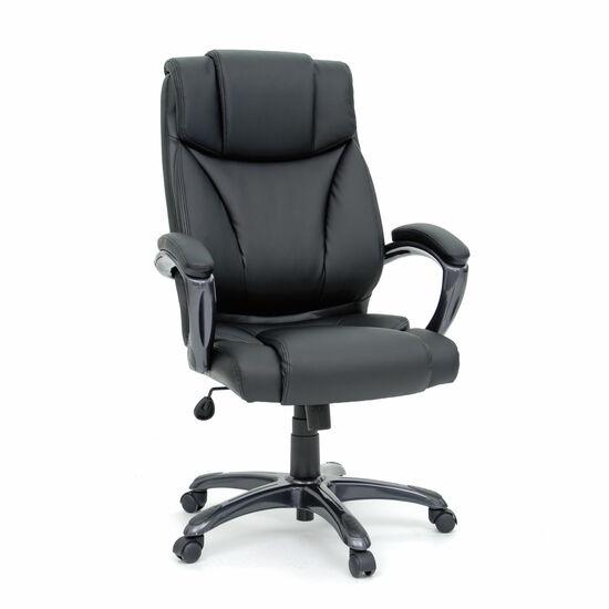 Leather Padded Executive Swivel Tilt Chairin Black