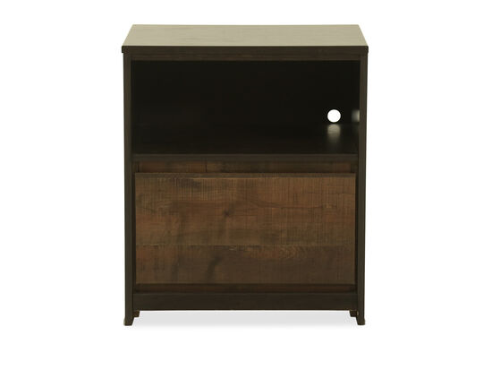 "24"" Contemporary One-Drawer Nightstand in Dark Brown"
