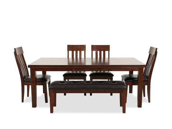 59a9329d766 Six-Piece Casual Dining Set in Brown ...
