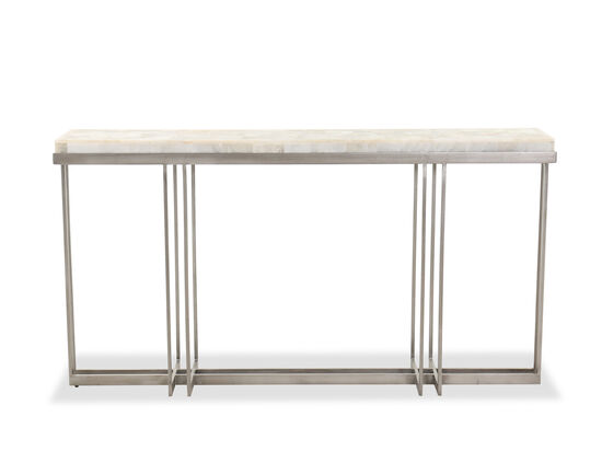 Rectangle-Braced Contemporary Console Table in Gray