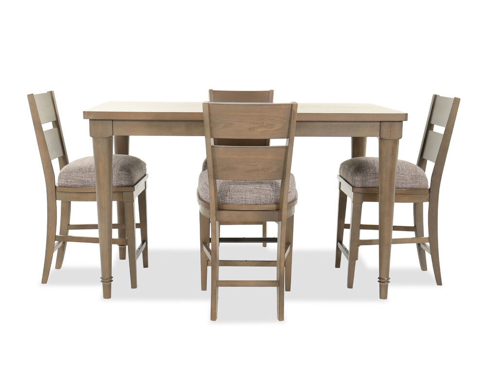 Five-Piece Traditional Counter Set in Brown