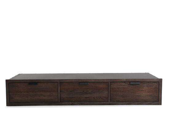 Contemporary Three-Drawer Youth Underbed Storage Unit in Tawny Brown