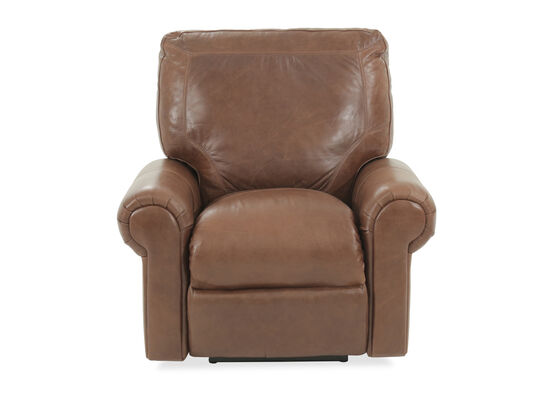 "Leather 39"" Power Recliner in Brown"