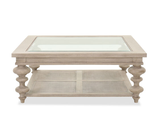 Casual Cocktail Table in Taupe