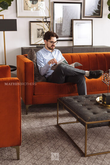Two-Piece 28'' Nesting Cocktail Ottoman in Brown