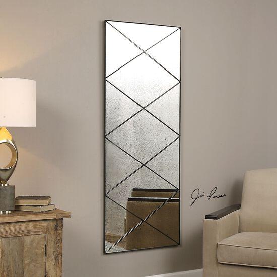 """60"""" Diagonal Strips Antique Mirrorin Dark Bronze"""