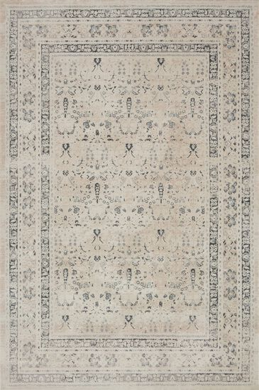 "Transitional 2'-7""x4' Rug in Ivory/Sand"