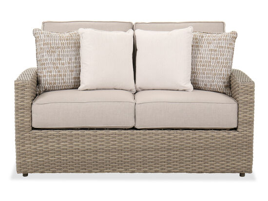 Contemporary Patio Loveseat in Light Grey