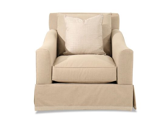 """Contemporary 42"""" Chair and a Half in Beige"""