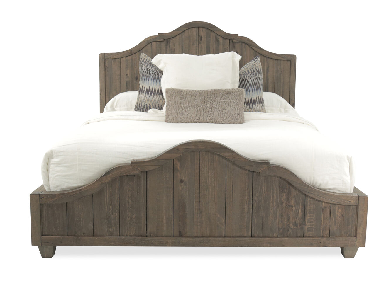 64 Quot Cottage Planked Panel Bed In Natural Umber Mathis
