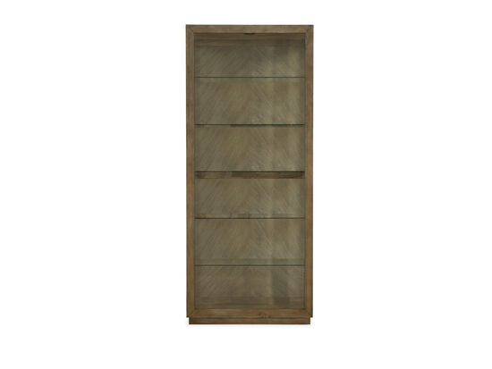 Transitional Side Entry Curio in Brown