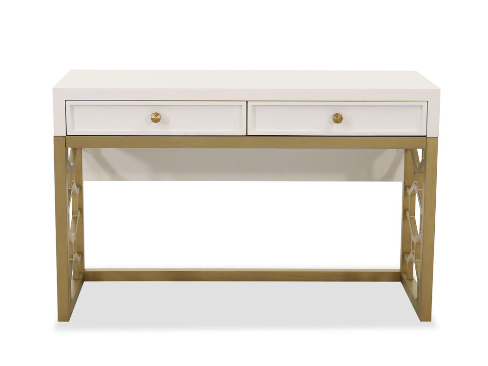 Contemporary Two-Drawer Youth Desk in White