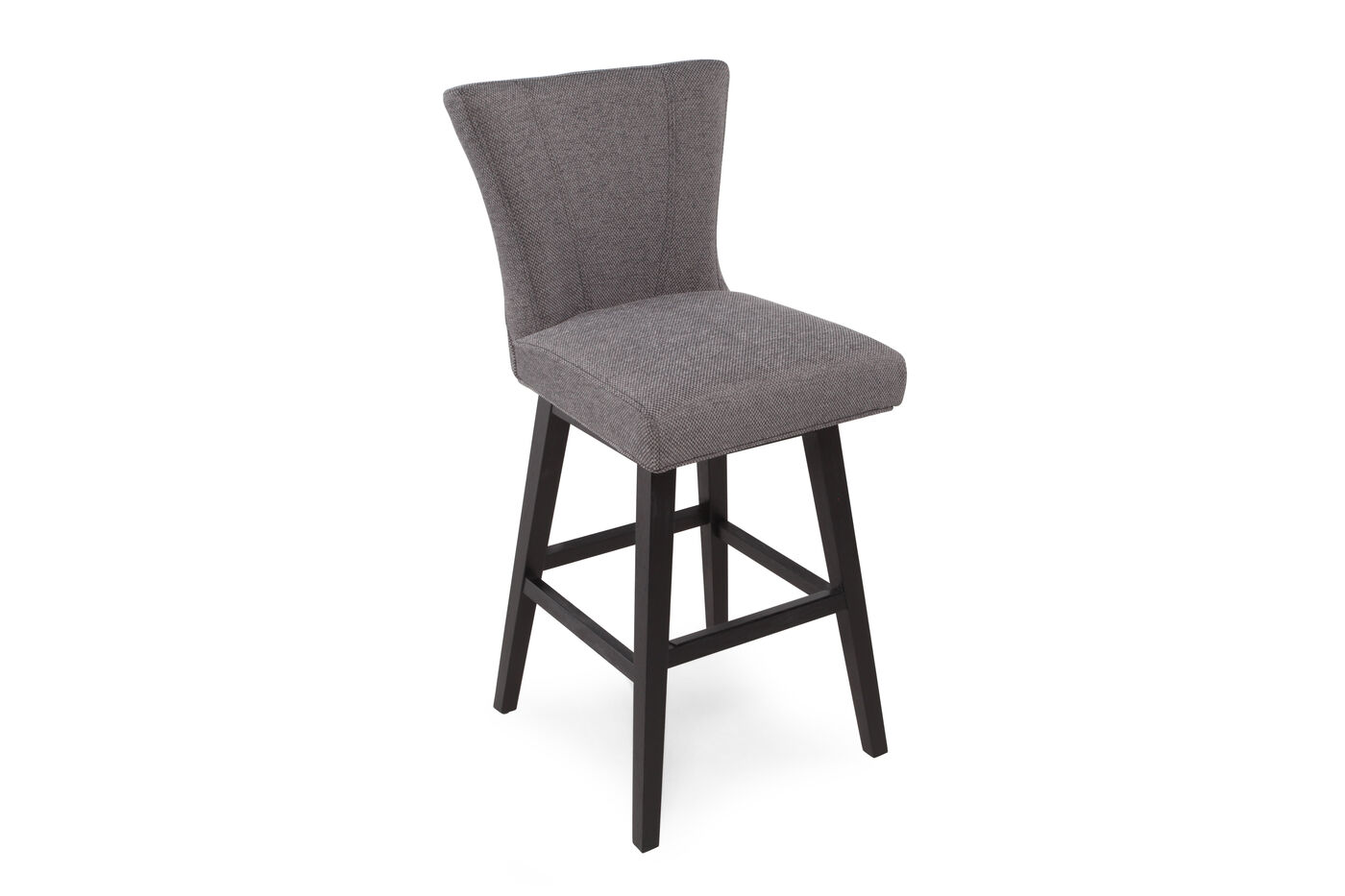 Contemporary 43 Quot Armless Bar Stool In Platinum Gray