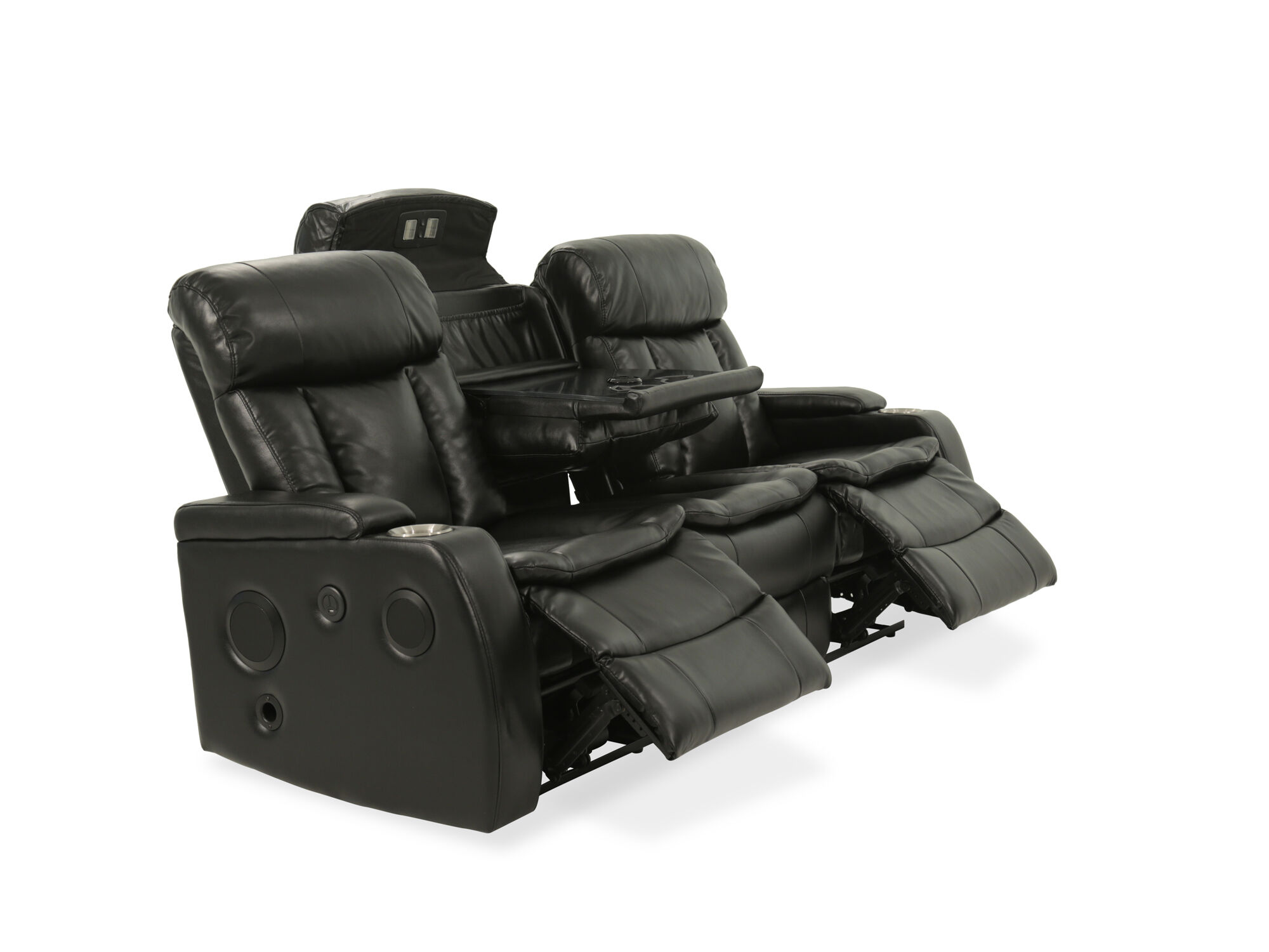 82 5 Power Reclining Sofa With Usb Port And Blutetooth In Black