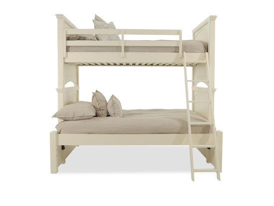 Transitional Youth Twin Over Full Bunk Bed in Cream