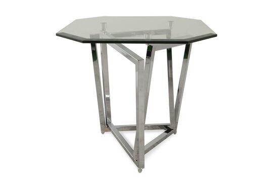 Octagonal Contemporary End Tablein Chrome