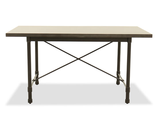 """Casual 60"""" Dining Table in Gray"""