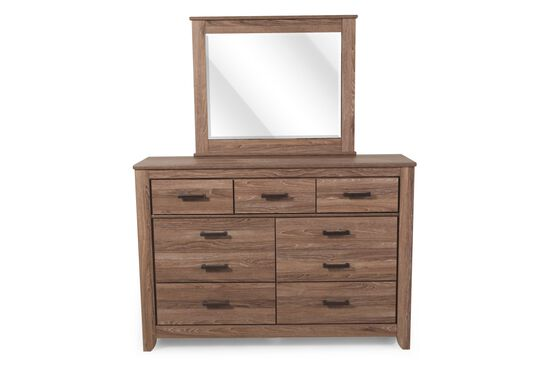 Two-Piece Casual Dresser and Mirror in Chestnut