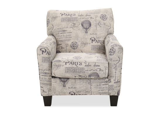 """Casual 35"""" Accent Chair in Gray"""