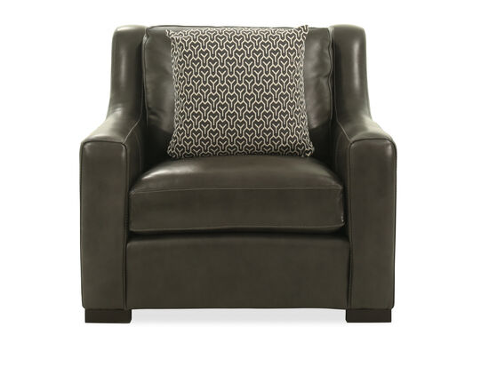 "Casual Leather 39"" Chair in Gray"