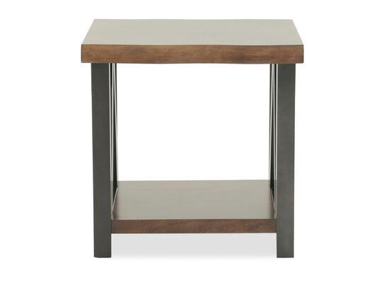 Mid-Century Modern Rectangular End Table in Dark Brown