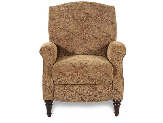 "Traditional Tapestry-Patterned 32"" High-Leg Recliner"