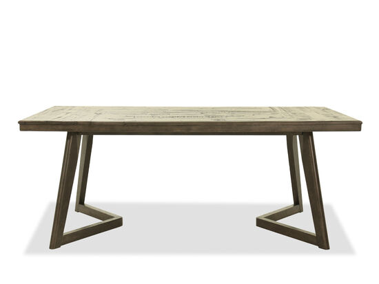 "Contemporary 76"" Rectangular Dining Table in Gray"