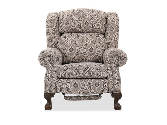 """Nailhead-Accented 39"""" Traditional Recliner in Mocha"""