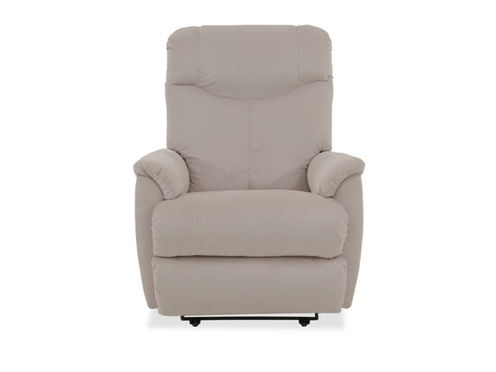 Curved Arms Casual 31.5'' Power Recliner in Beige