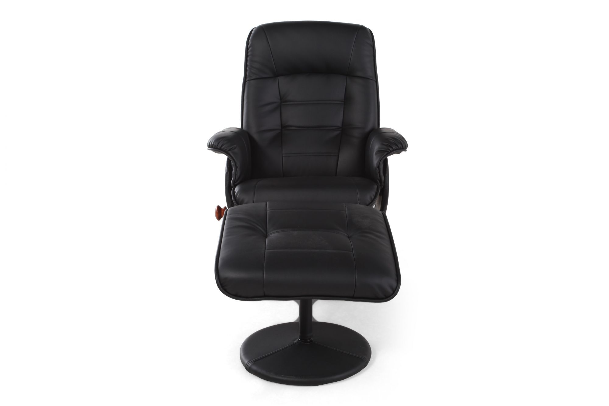 Contemporary Reclining Chair And Ottoman In Black