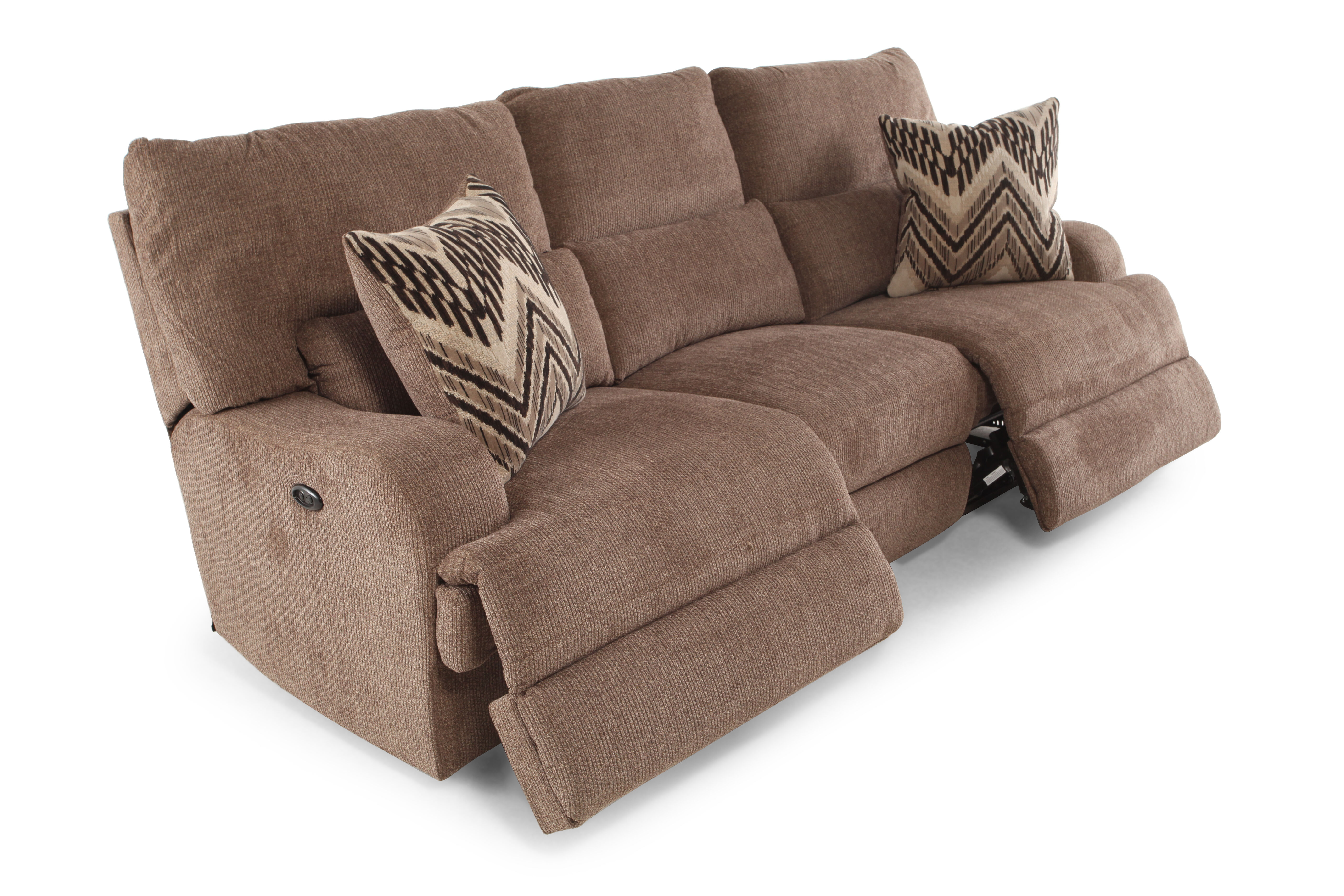 Traditional Power Reclining 97u0026quot; Sofa ...