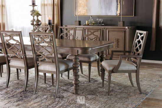 """Modern 80"""" Solid Parawood Table with Detachable Leaf"""