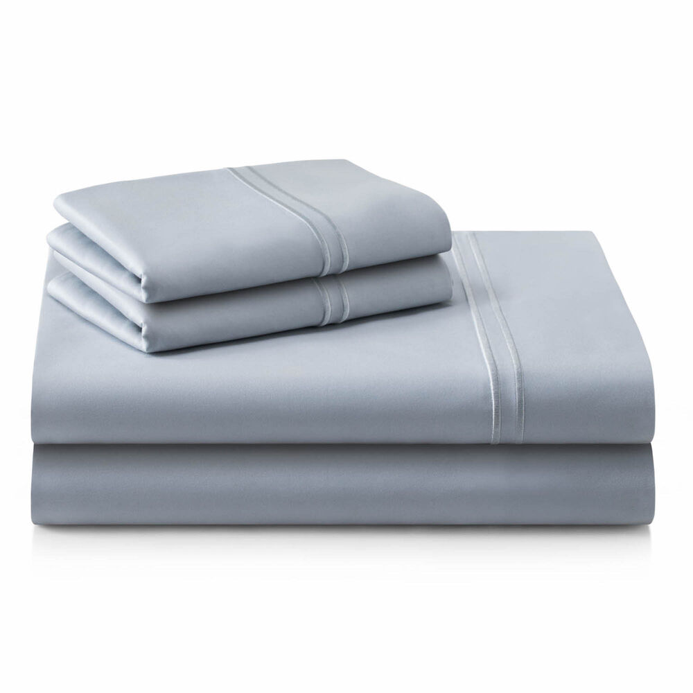 Malouf Supima Cotton Sheet Set in Smoke