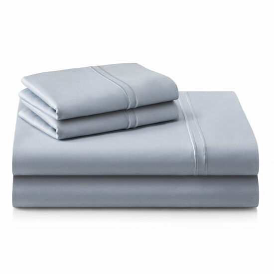 Malouf Supima Cotton Queen Sheet Set in Smoke