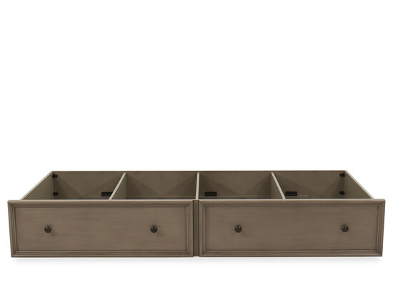 Casual Youth Trundle Storage Unit in Khaki Gray