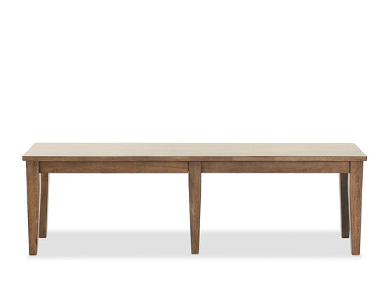 """Traditional 60"""" Rectangular Bench in Rustic Brown"""