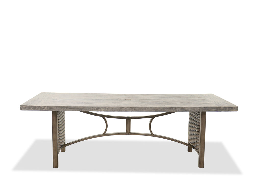 Aluminum Dining Table in Brown