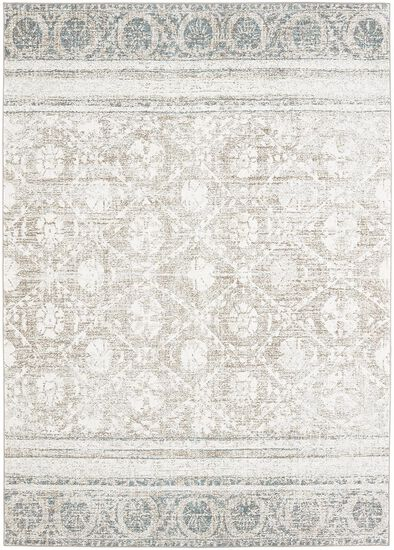 """Transitional 3' 6""""x5' 6"""" Woven Rectangle Rug in Natural Cotton"""