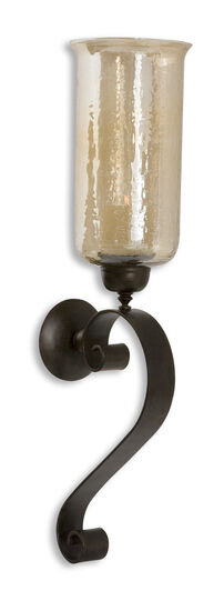 Candle Wall Sconce in Antiqued Bronze
