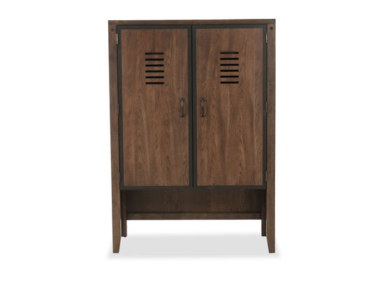 Contemporary Youth Locker Door Chest in Oiled Oak
