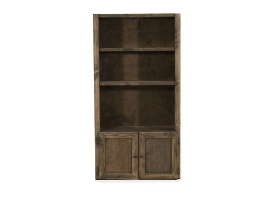 Casual Youth Two-Door Bookcase in Brown